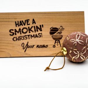 X-Mas special ceder houten rookplankje (2 stuks)