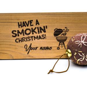 Ceder houten rookplankje kerst personalisatie (2 stuks)