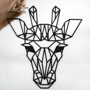 Houten geometrische dierenkop 30 cm