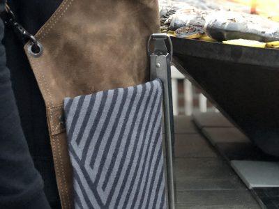 DX.XI leren schort bbq schort leren bbq schort lederen schort bbq schort leer leather apron badge personalisatie